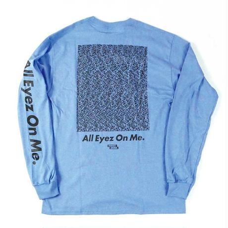 """ALL EYEZ ON ME"" L/S T-SHIRT ( Sky Blue / Black )"