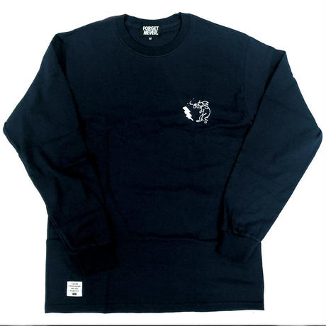 ANIMAL CYPHER - LONG SLEEVE TEE【NAVY/WHITE】