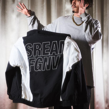 """""""S.R.E.A.M. x FORGET NEVER 2021"""" TRACK JACKET 【 BLACK-WHITE 】"""