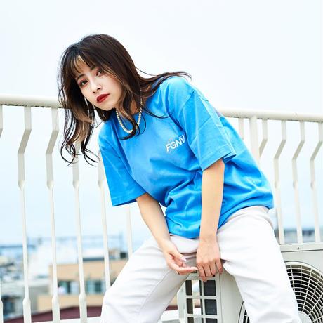 """OVAL LOGO"" Short Sleeve Tee (Light Blue)"