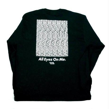 """ALL EYEZ ON ME"" L/S T-SHIRT ( Black / White )"