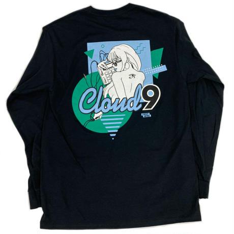 """""""CLOUD9"""" L/S TEE ( Black )"""