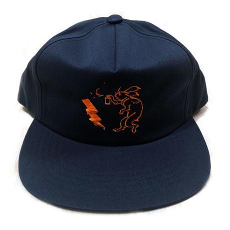 ANIMAL CYPHER - 5PANEL BALL CAP 【NAVY/ORANGE】