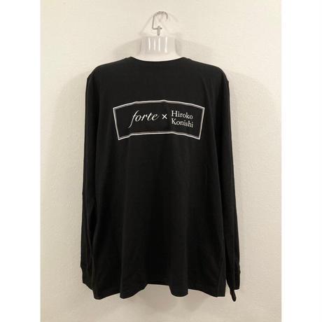 【ペイント無し】forte×Hiroko Konishi Collaboration Long Sleeve Organic T-Shirts(Black)