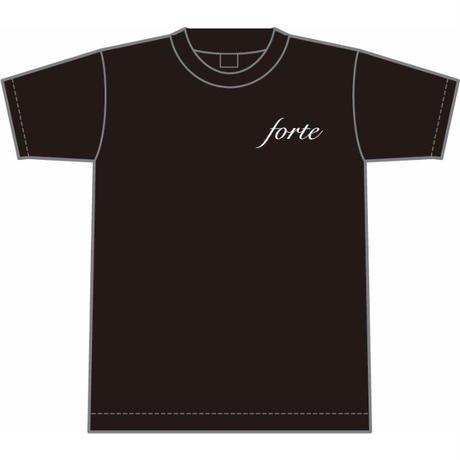 forteオーガニックコットンTシャツ(Black)