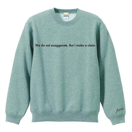 "forte""Message""Crewneck Sweat(Gray)"