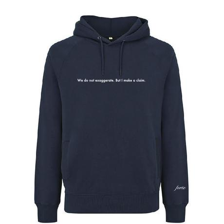 forte #Message Organic Hoodie(Black)裏起毛