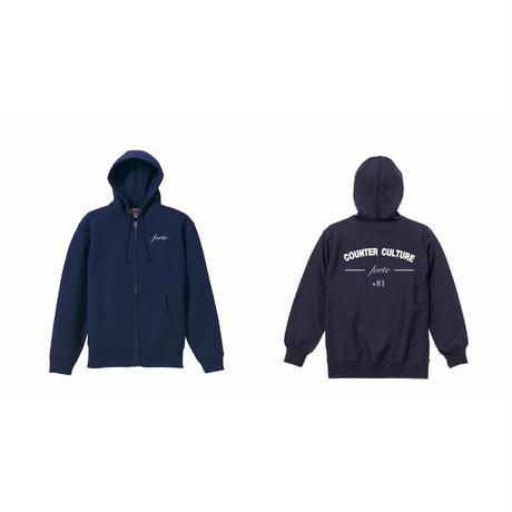 forte COUNTER CULTURE Zip Up Hoodie/裏起毛(Navy)