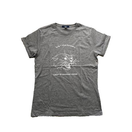 forte×Alice Korotaeva Rolled-up Sleeve Organic cut and sewn(Gray)