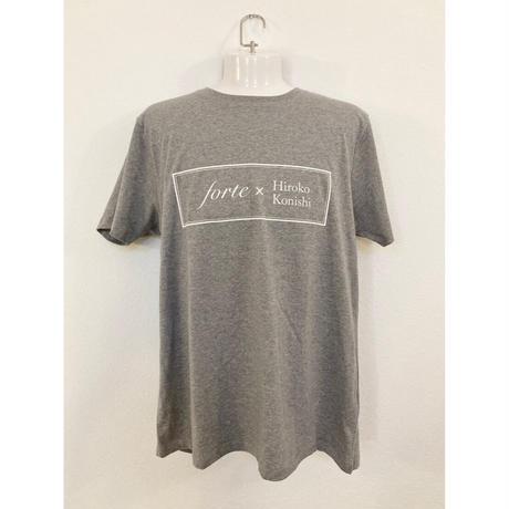 【ペイント無し】forte×Hiroko Konishi Collaboration Organic T-Shirts(Melange Gray)