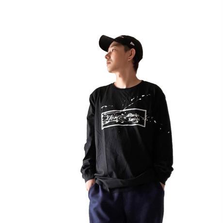 """【オーダーペインティグ】forte×Hiroko Konishi Collaboration """"絵を着る"""" Long Sleeve Organic T-Shirts(Black)"""