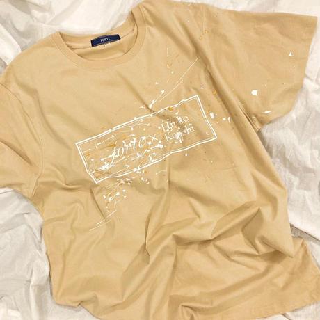"""【オーダーペインティング】forte×Hiroko Konishi Collaboration """"絵を着る"""" Organic T-Shirts(Nuts)"""