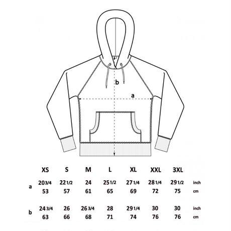 forte Embroidery Wappen Unisex raglan pullover hoody(Black)