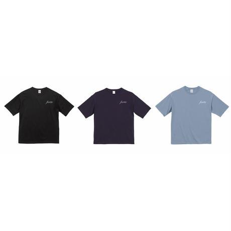 forte Authentic Logo Oversized T-Shirts(Black/Navy/Acid Blue)