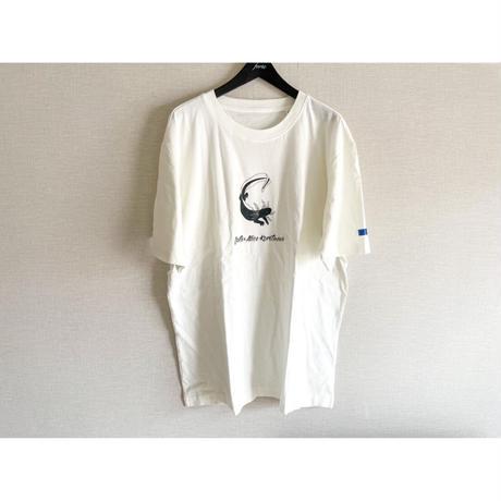 "forte×Alice Korotaeva 2nd Collection-2""axolotl"" Over Sized T-Shirts(Off White)"
