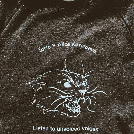 forte×Alice Korotaeva Raglan Organic Sweatshirt(Twist Black)