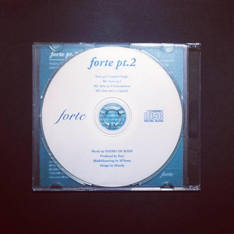 forte pt.2 Limited Single CDr【forte Online Shop限定】