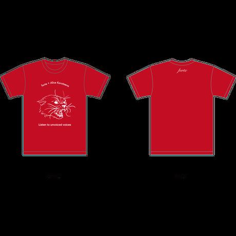 forte×Alice KorotaevaコラボレーションオーガニックTシャツ(Red)