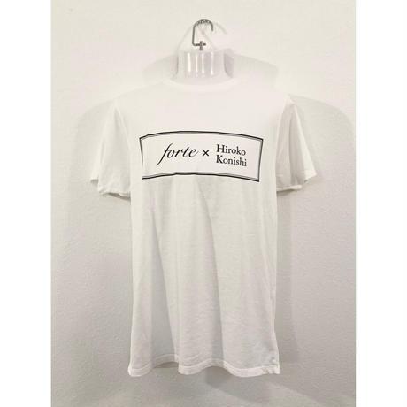 【ペイント無し】forte×Hiroko Konishi Collaboration Organic T-Shirts(Stone Wash White)