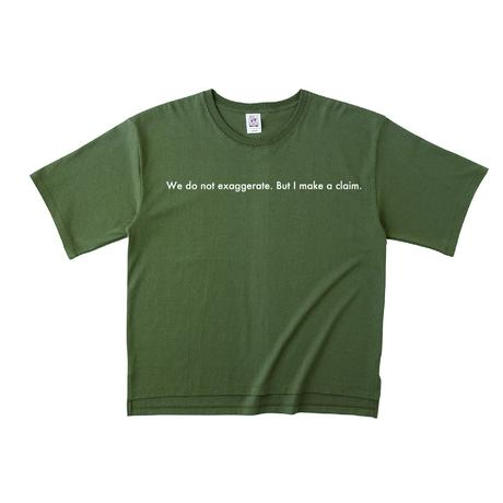"forte ""Message"" Over Size T-Shirts(Army Green)"
