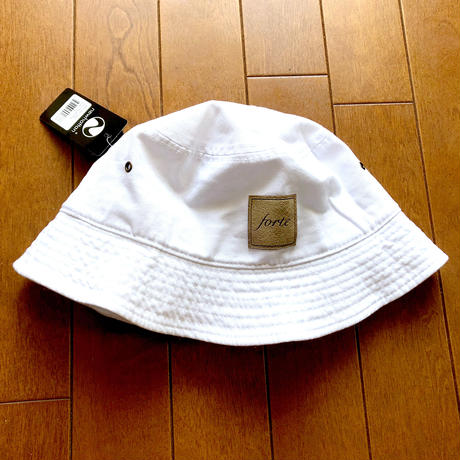 forte Official suèdeTag Bucket Hat(White)