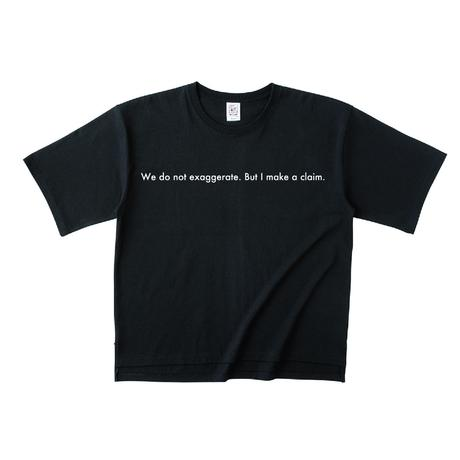 "forte ""Message"" Over Size T-Shirts(Black)"