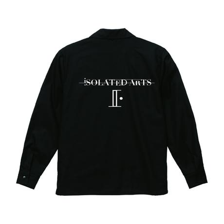 iSOLATED ARTS Long Sleeve Open Collar Shirts(Black)