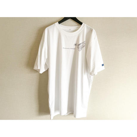 forte×Alice Korotaeva 2nd Collection Over Sized T-Shirts(White)