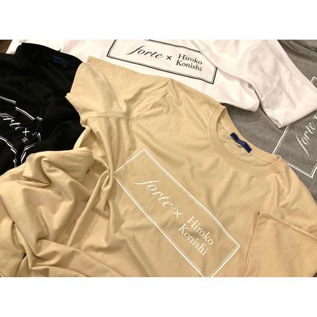 """【オーダーペインティング】forte×Hiroko Konishi Collaboration """"絵を着る"""" Long Sleeve Organic T-Shirts(White)"""