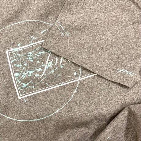 """【オーダーペインティング】forte×Hiroko Konishi Collaboration """"絵を着る"""" Organic T-Shirts(Meringue Gray)"""