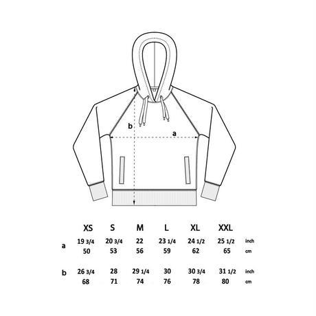forte×Alice Korotaeva Unisex Pullover Organic Hoody(Navy)裏起毛