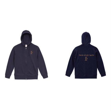 18SS / iSOLATED ARTS High Grade Double Zip Hoodie(Navy)