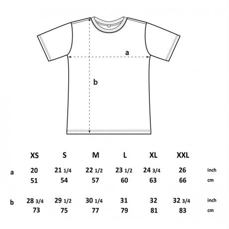 forte×Alice KorotaevaコラボレーションオーガニックTシャツ(Denim Blue)