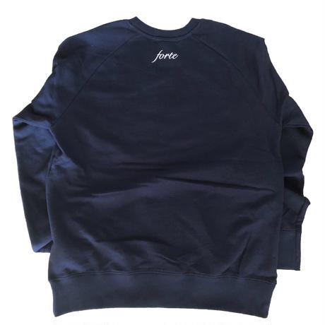 forte×Alice Korotaeva Raglan Organic Sweatshirt(Navy)