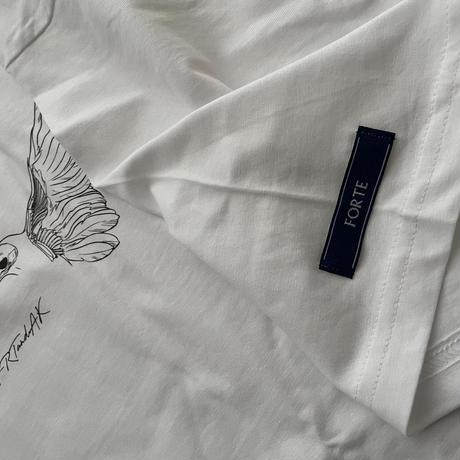 forte×Alice Korotaeva 2nd Collection Fairtrade Organic Cotton T-Shirts(Aquamarin)
