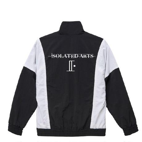 iSOLATED ARTSコットンライク ナイロン トラック ジャケット(Black)