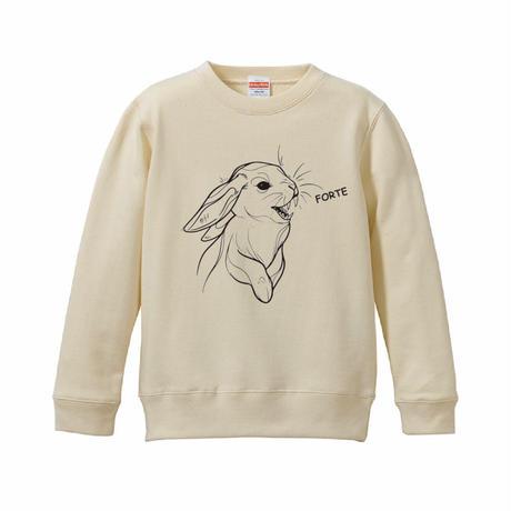 forte×Alice Korotaeva 3rd Collection - Usagisann Kids Sweatshirts(3Colors)