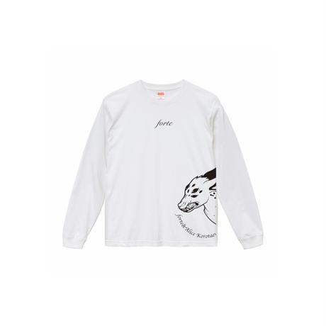 forte×Alice Korotaeva 3rd Collection - Kirin L/S T-Shirts(White)普通シルエット