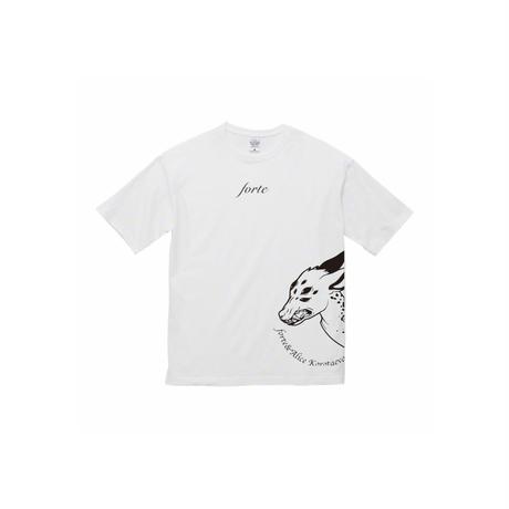 forte×Alice Korotaeva 3rd Collection - Kirin T-Shirts(White)ビッグシルエット