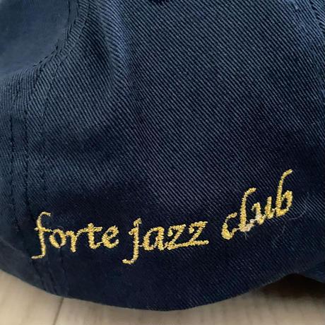 "forte Original ""FRT/forte jazz club"" Dad Hat(Black/Navy)"