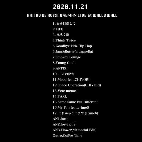【2/10発売】HAIIRO DE ROSSI ONEMAN LIVE at WALL&WALL(2020/11/21)【forte限定DVD+SET LIST T-Shirts SET】