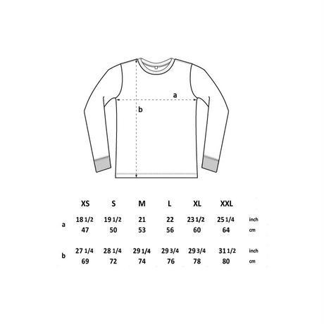 forte×Alice Korotaeva Unisex heavy jersey long sleeve Organic T-shirts(Black)