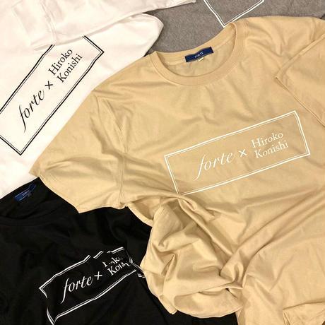 【ペイント無し】forte×Hiroko Konishi Collaboration Organic T-Shirts(Nuts)