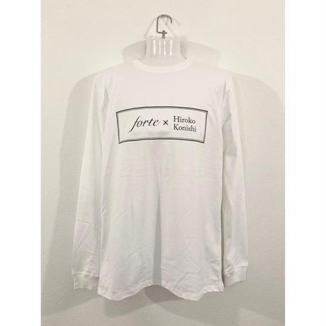 【ペイント無し】forte×Hiroko Konishi Collaboration Long Sleeve Organic T-Shirts(White)