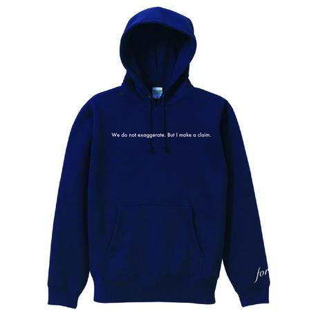 "forte""Message""Pull Over Hoodie(Navy)"