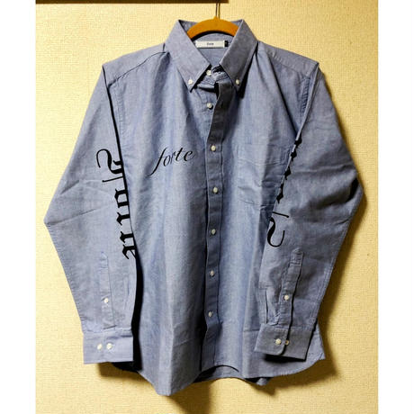 "forte B.D Oxford Shirts""Old E.TATOO""(SAX/GRAY) - General Price"