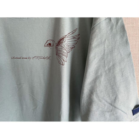 【New Color】forte×Alice Korotaeva 2nd Collection Over Sized T-Shirts(Sage Green)