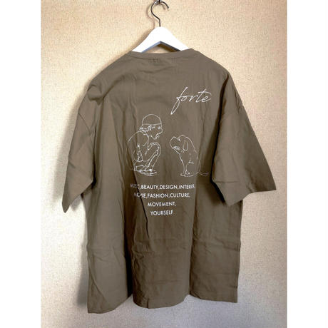 "【New Color】forte""MAKE""Big Silhouette pocket T-shirts(Sand Khaki) - General Price"