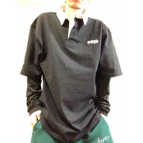 "forte""Sale""ラガーシャツ(Black)"