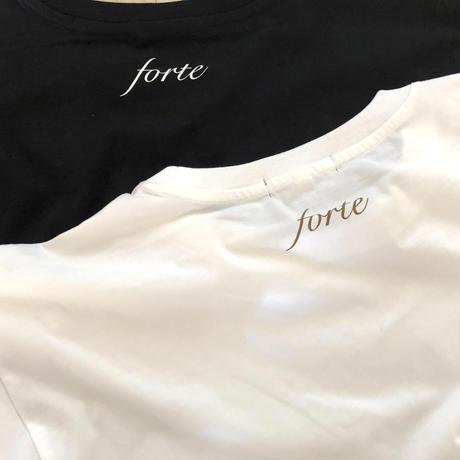 forte×Alice Korotaeva Oversized Organic T-shirt(WHITE/BLACK)